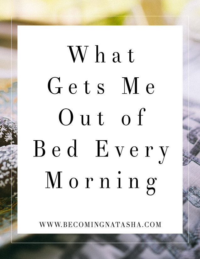 What Makes Me Want Get Out Of The Bed Every Morning