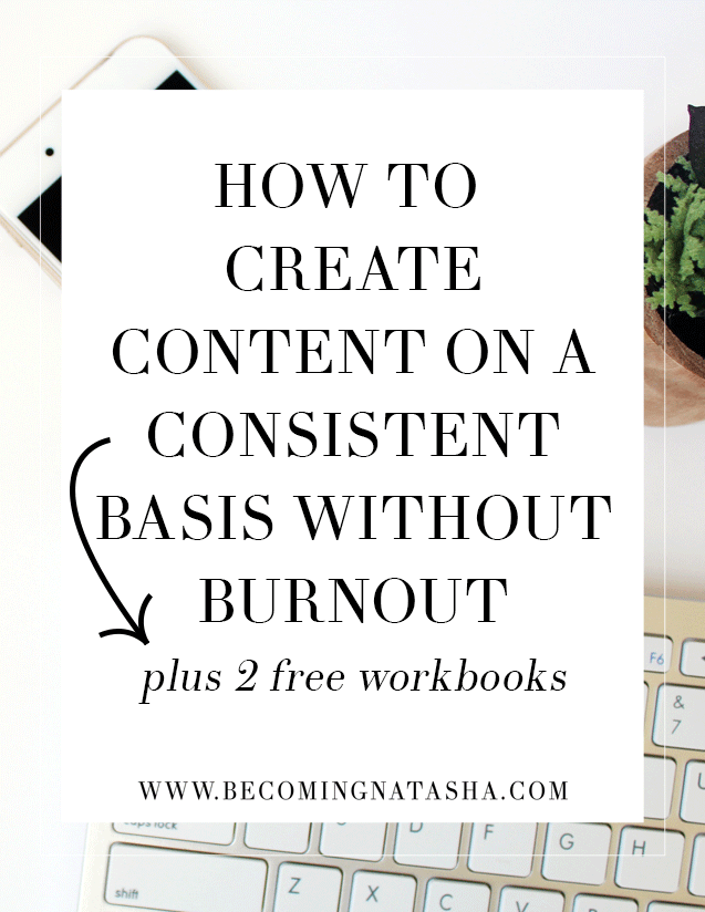 How To Create Content On A Consistent Basis from Becoming Natasha