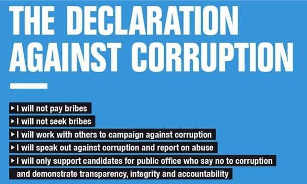 anti-corruption declaration