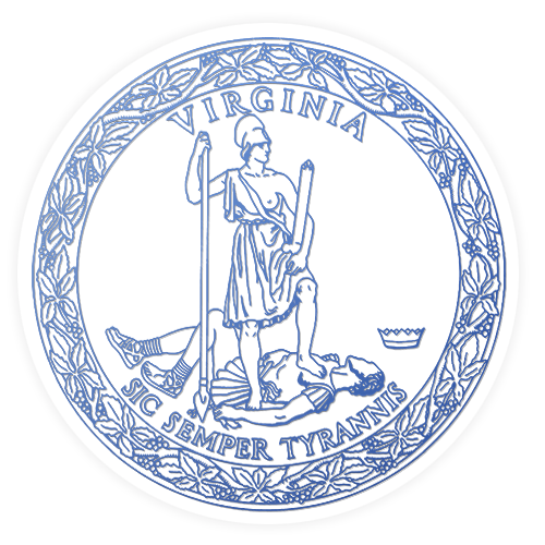 The seal of the Governor's Office of the State of Virginia