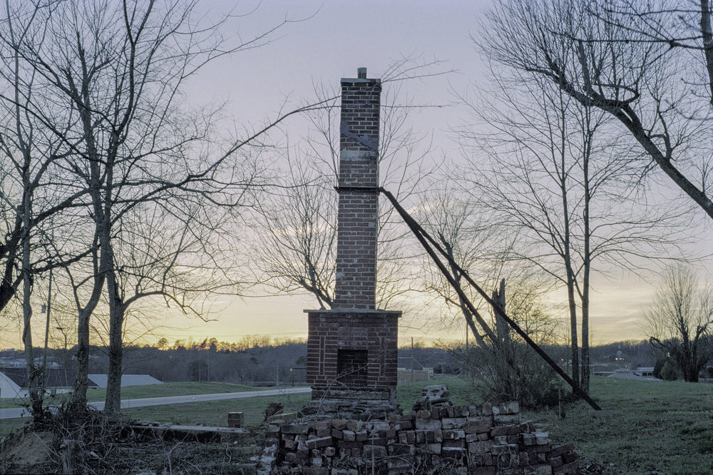 This chimney was still standing after the tornado; I wish I was too