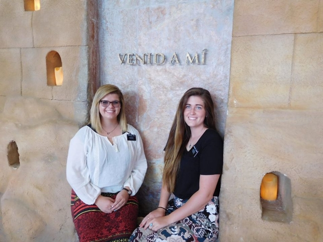 Emilie (left), with Sister (Blank) at the Mexico MTC