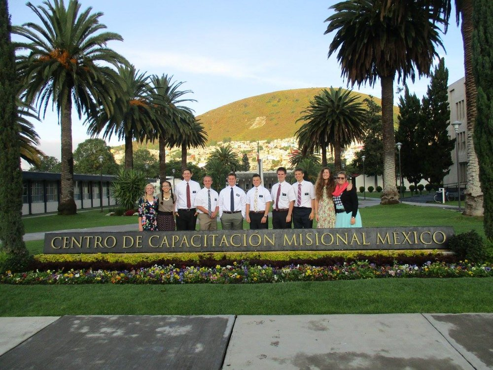 Emilie (far right), with her District at the Mexico MTC