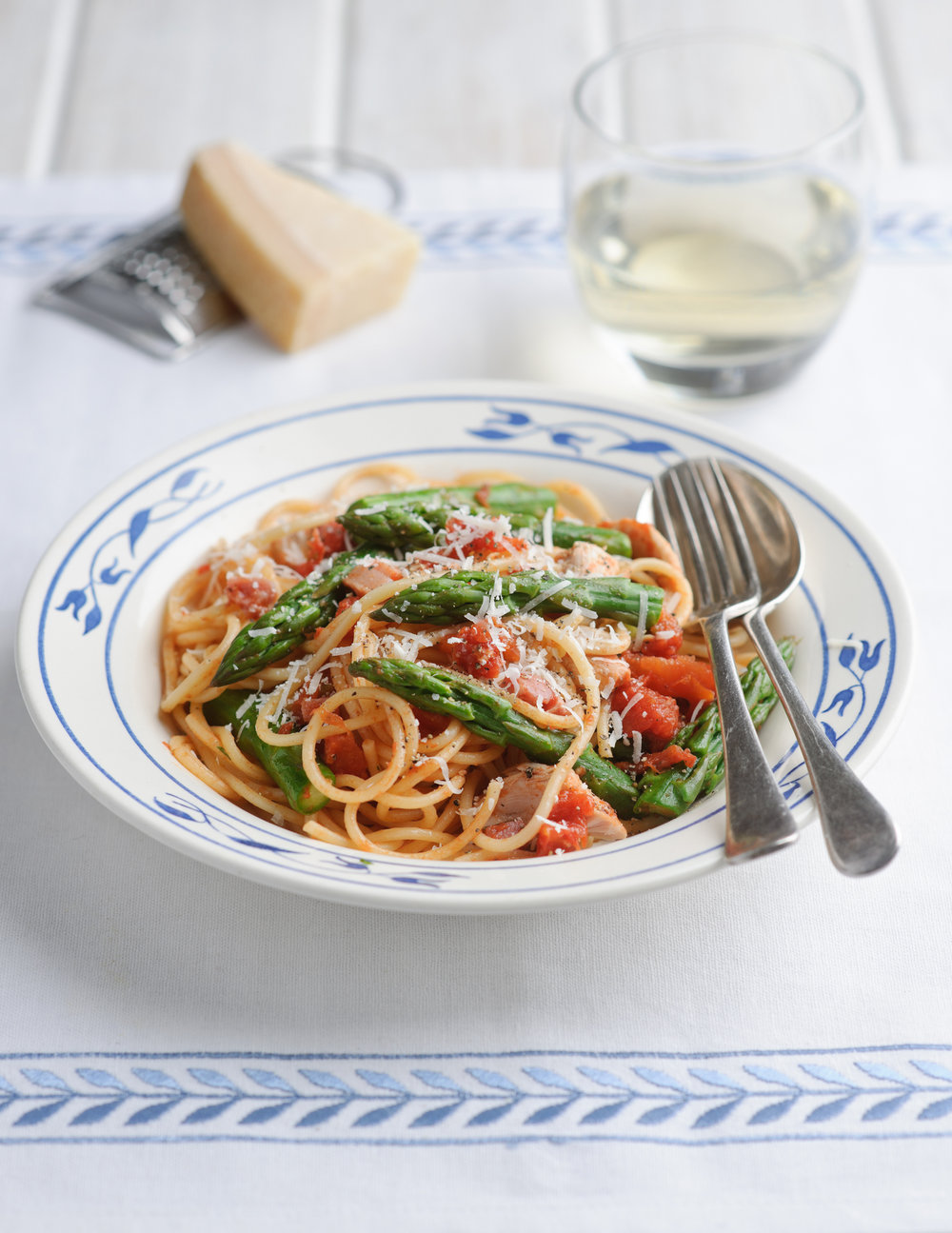 Fiery asparagus and chicken pasta - This is a recipe all of the family will love. You can reduce or omit all of the chilli altogether if your taste buds can't handle the heat. Either way this recipe is guaranteed to become a family favourite.