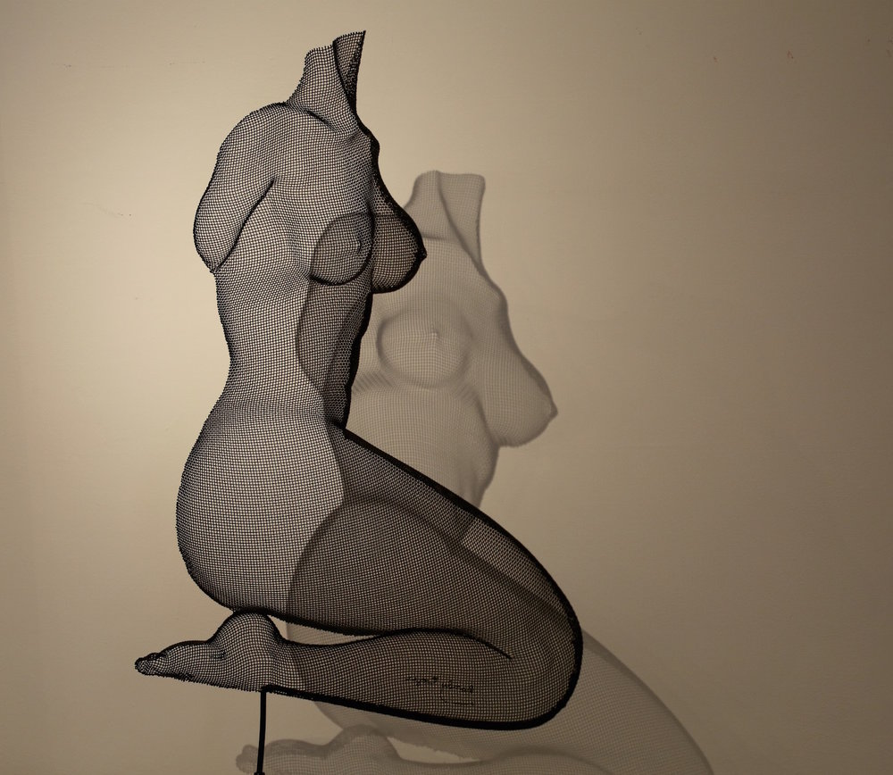 "The Magic... - He began creating intriguing and magical sculptures in wire mesh and has developed all of the techniques that he uses in making his ""Shadow Sculptures"" on his own."