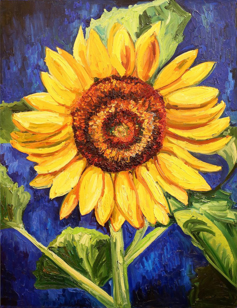 """""""Sunflower Face"""" 36x48 web.jpg"""