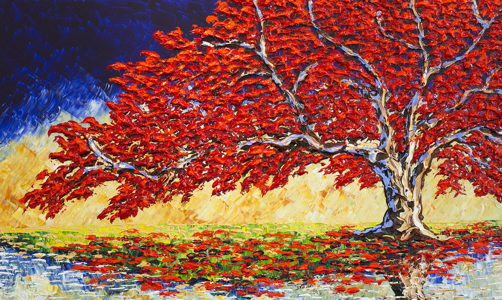 """Red Maple of the Autumn Sunsets"""