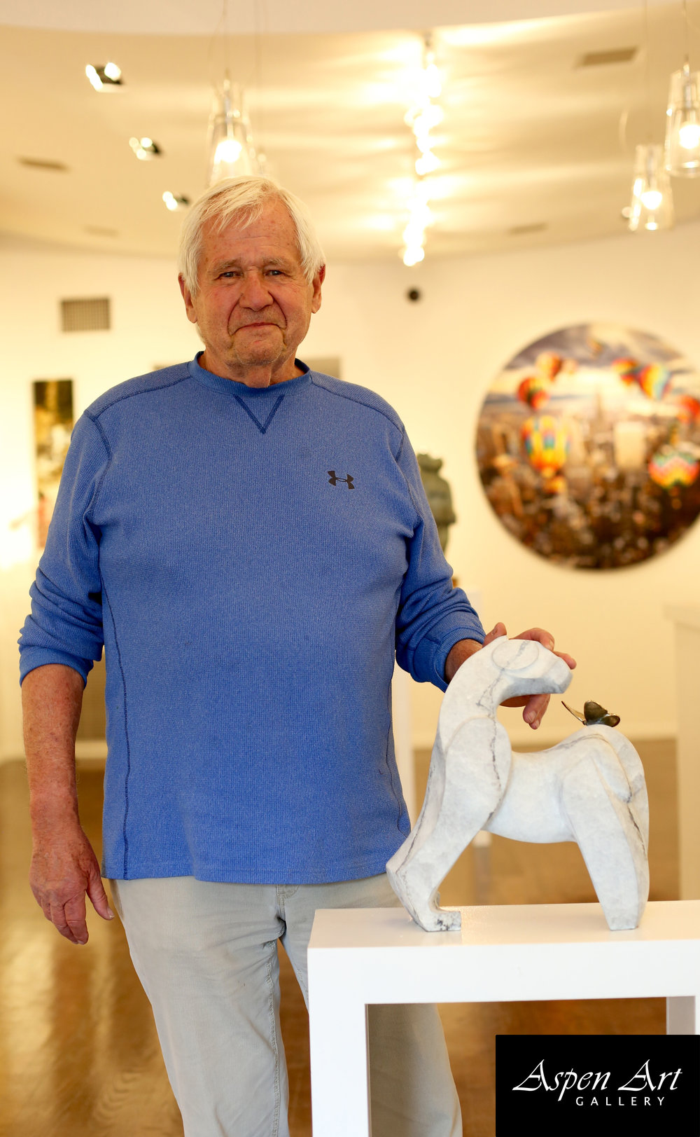 Mark Yale Harris during one of his visits at the Aspen Art Gallery