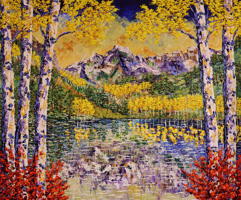 Majestic Forest of the Colorful Waters 60x72