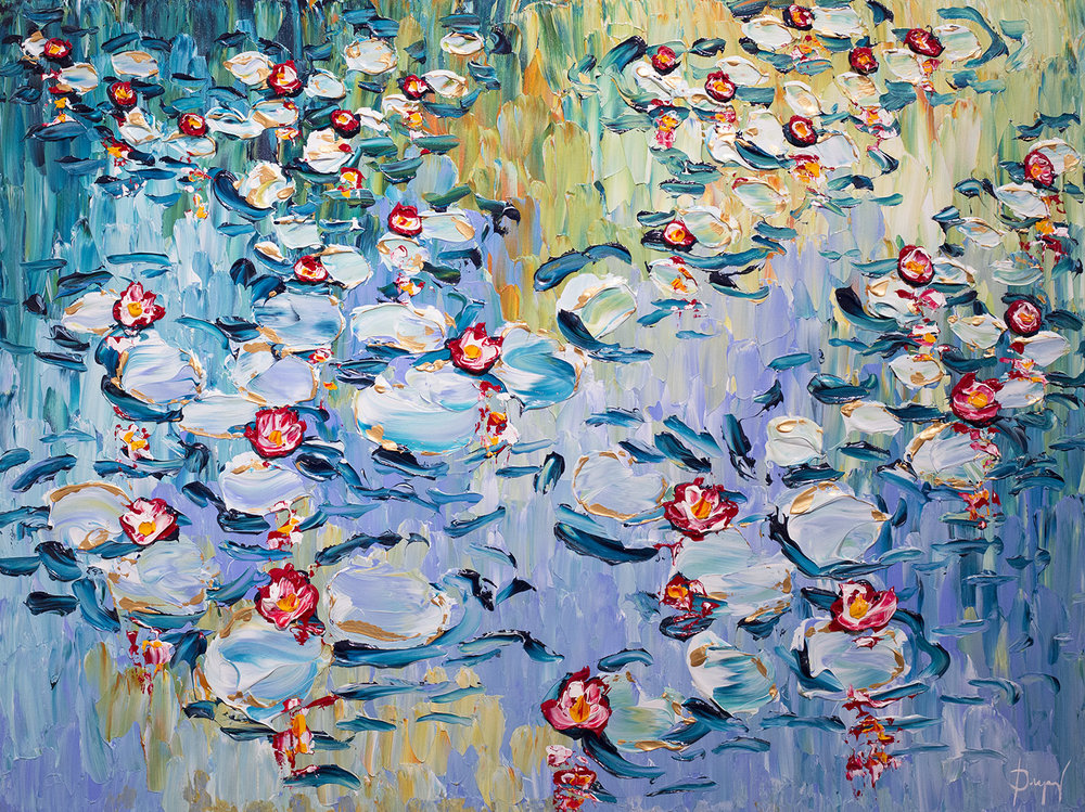 Water lilies of the Bright Season 36x48