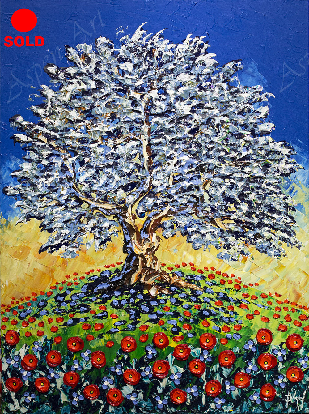 Olive Tree of Colorful Delight 40x30