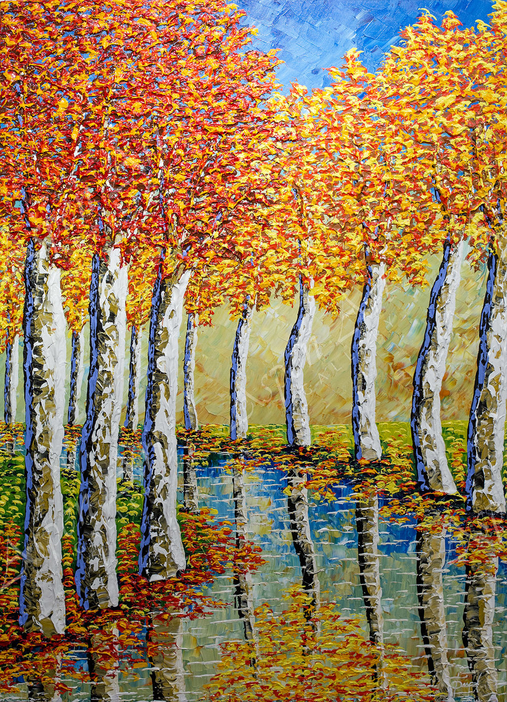Sycamores Reaching to the Sky 60X42