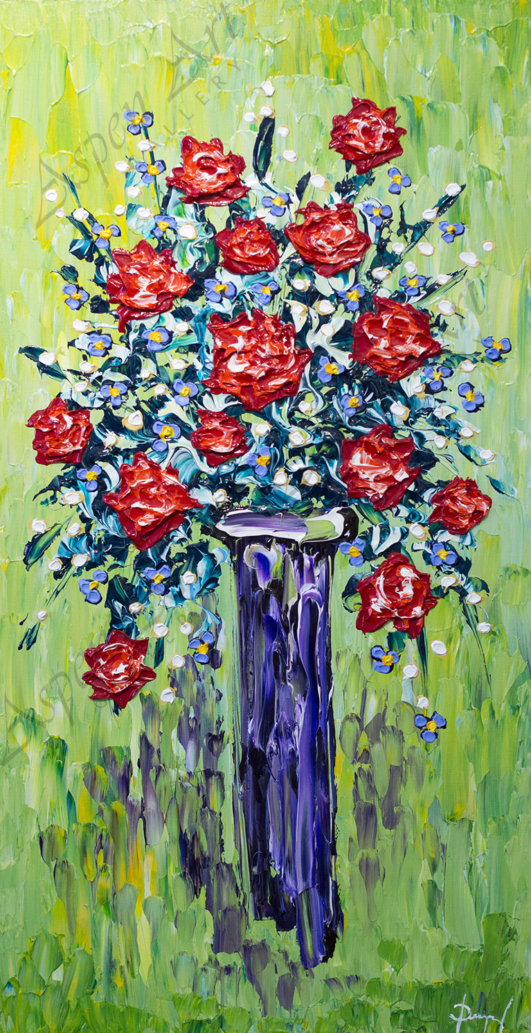 Vase of Rose Delights