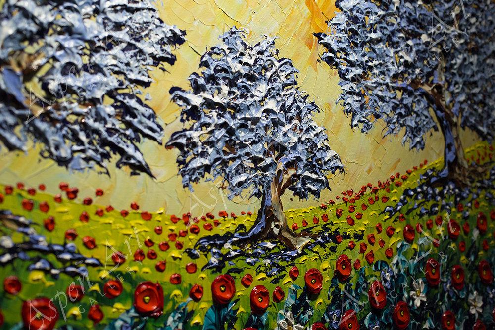 Olive Trees of the Poppy Fields 36X60