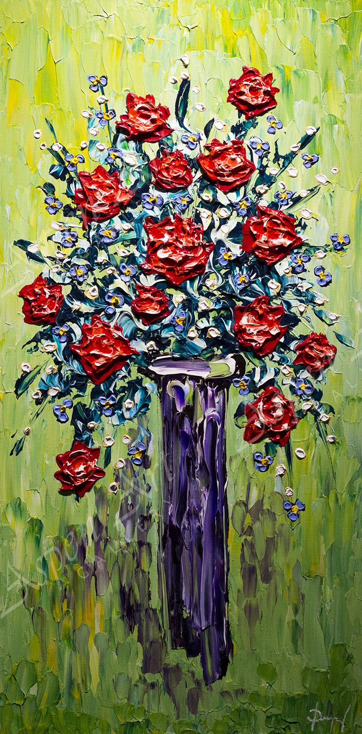 Vase of Rose Delights 40x20