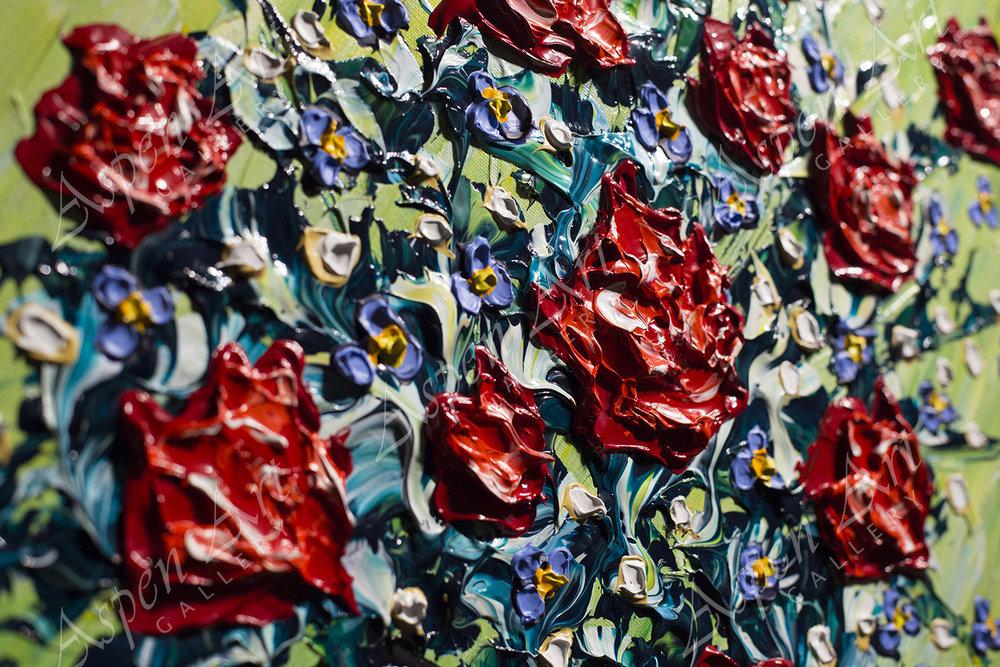 Vase of Rose Delights 40x20