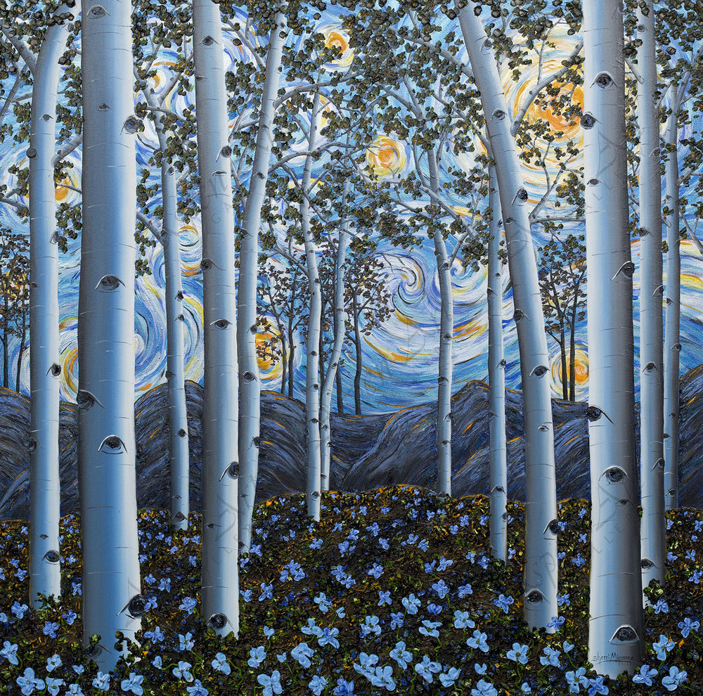 Aspen Starry night 36x36