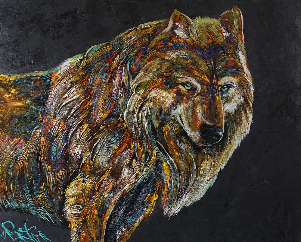 Wolf 48x60