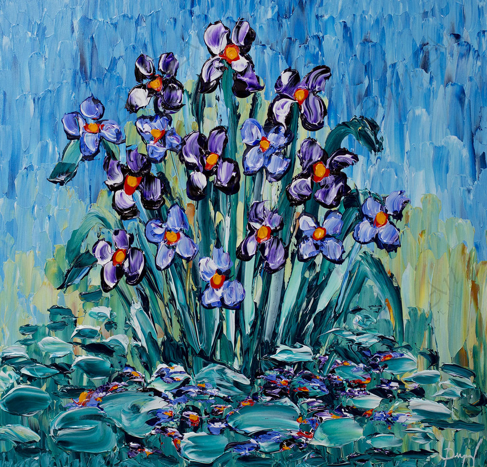 Irises of Colorful Blossoming 30x30