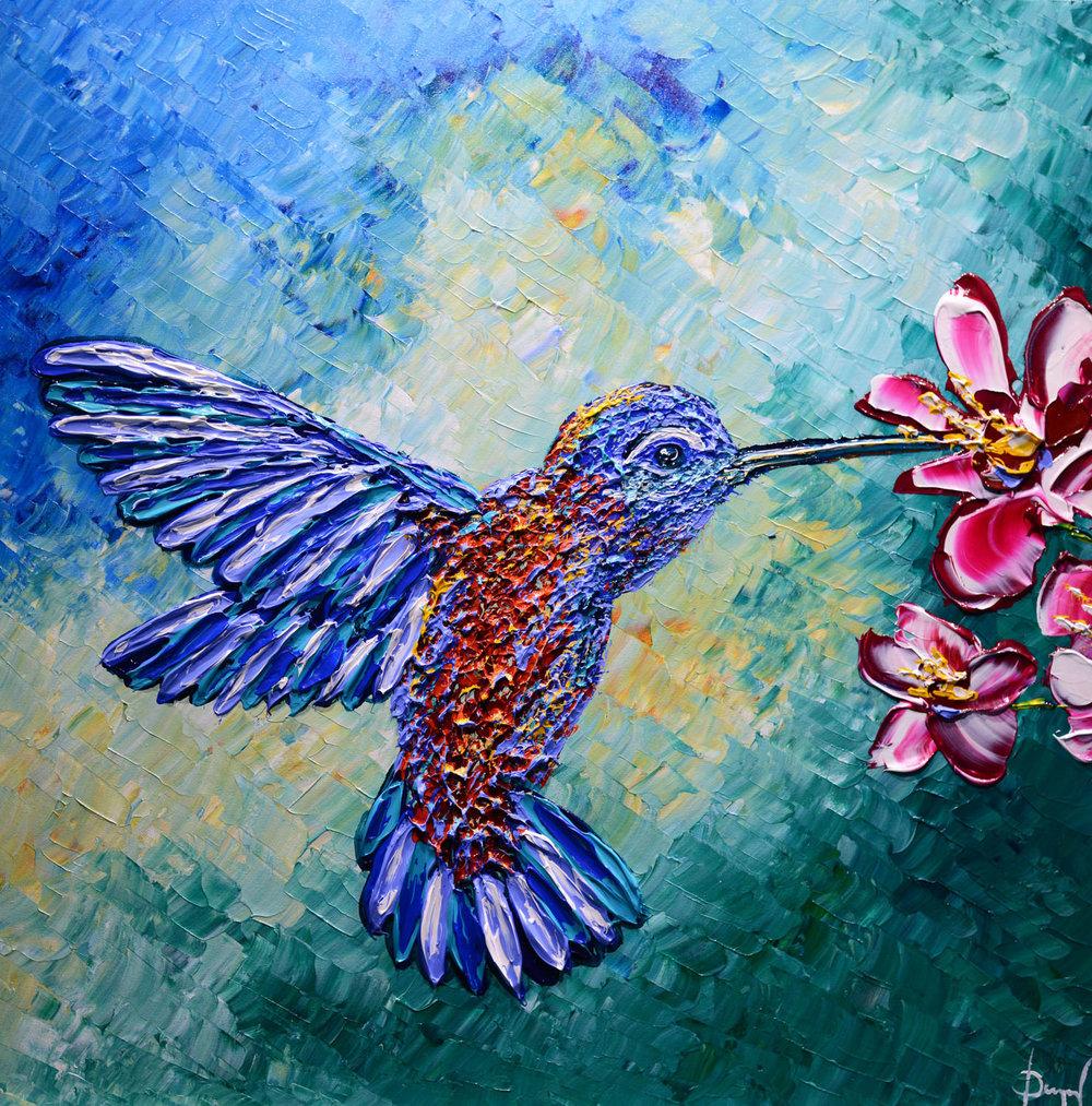 Deligthful Hummingbird of Summer, 2018, 30x30