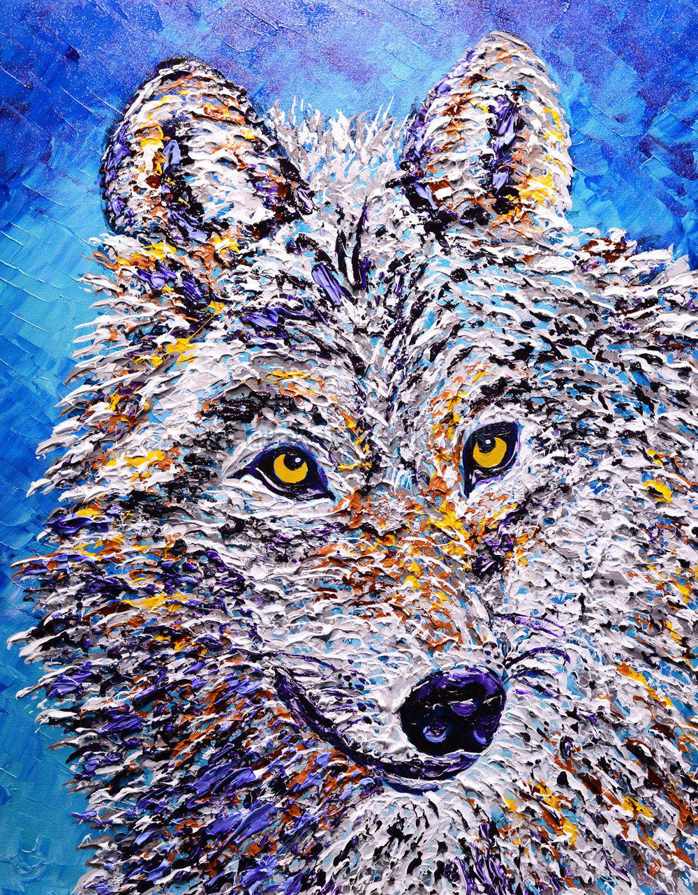 SOLD Mighty Wolf of the Wild, 2018, 30x24