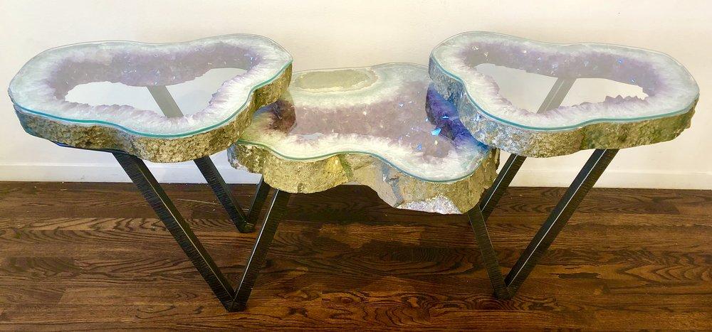 Ameythist Table w/ Glass