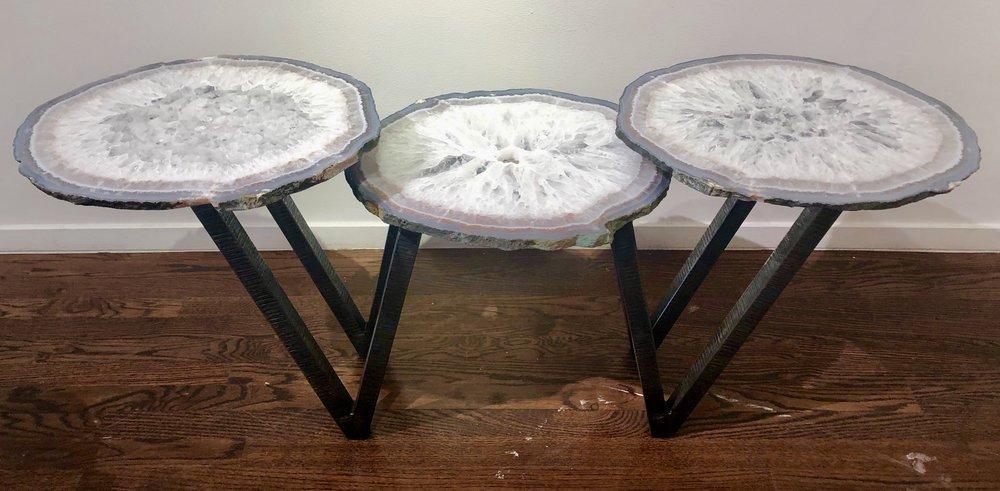 White quartz cocktail table