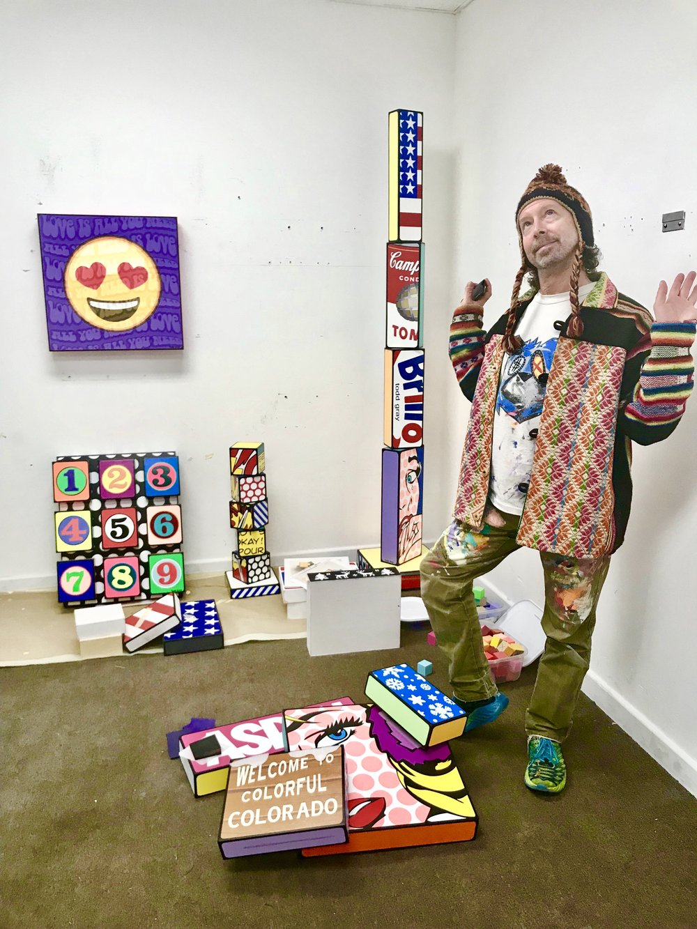 Bio - Todd was born in 1962 - around the same time pop art began to flourish under names like Warhol and Lichtenstein. His work samples what others have sampled in the past, but with his very own unique twist. Whereas most artists take to canvas, Todd uses three-dimensional blocks that he constructs of wood.