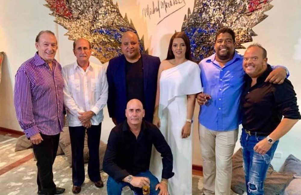 Mirabal with Aspen Art Gallery owner, Damian Guillot on the far right.