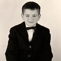Robin Williams as a young boy.