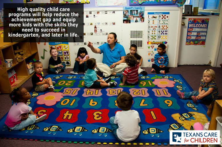 Why Kids Care More About Achievement >> Low Child Care Subsidies Shortchange Texas Kids Texans Care For