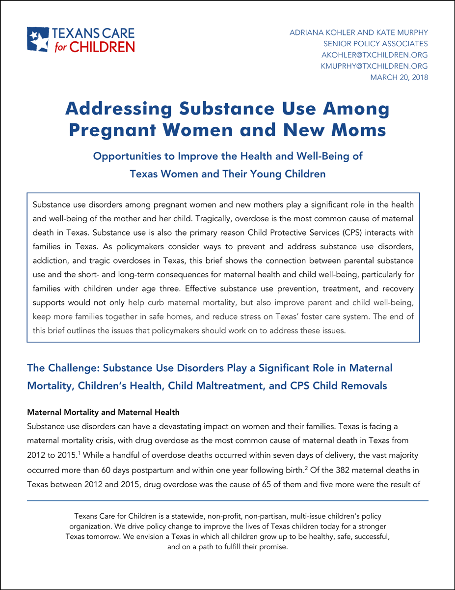 Addressing Substance Use Among Pregnant Women and New Moms