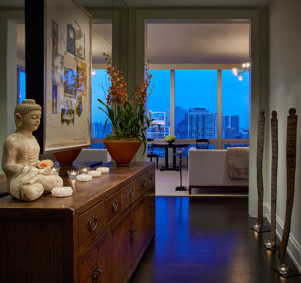 Entry of an Art Filled Penthouse at The Montgomery
