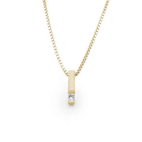necklace rose bar jewellery vertical yellow lauryn carat gold