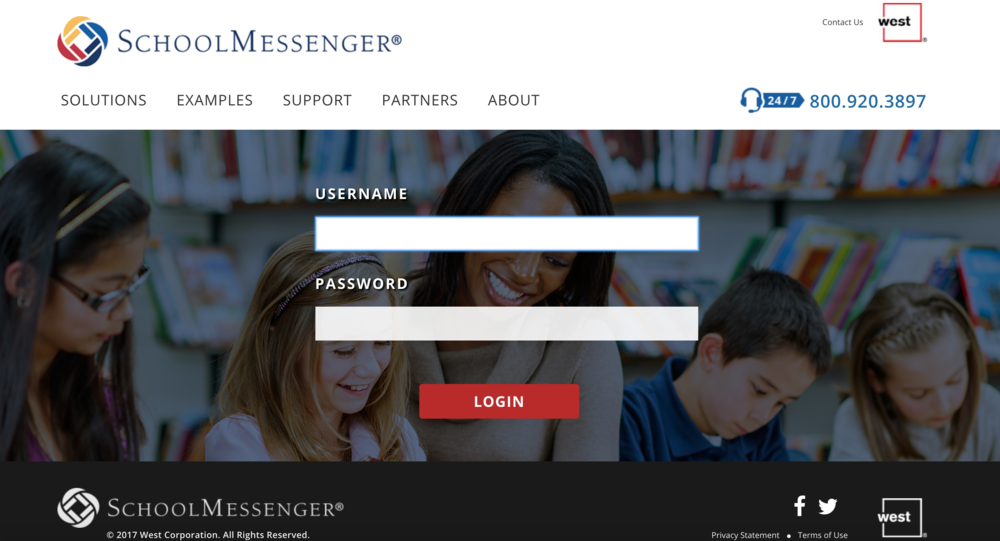 Click here to login to School Messenger