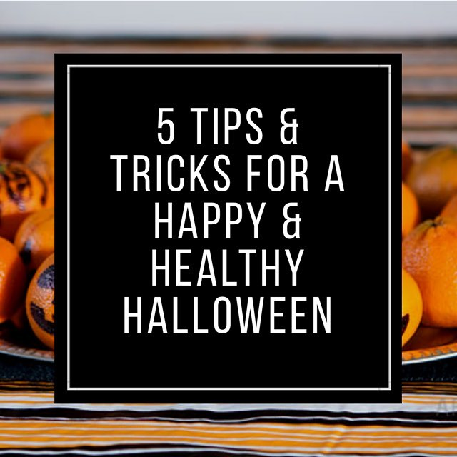 Halloween is next Wednesday! I know a lot of you probably have Halloween parties to go to this weekend, so it's going to be almost a full week of Halloween fun! Are you and your family prepared to make it out on the other side of the candy-coated madness feeling just as great as you did going in? . Check out my 5 quick tricks & treats to make this Halloween your family's happiest & healthiest yet! Link in bio!