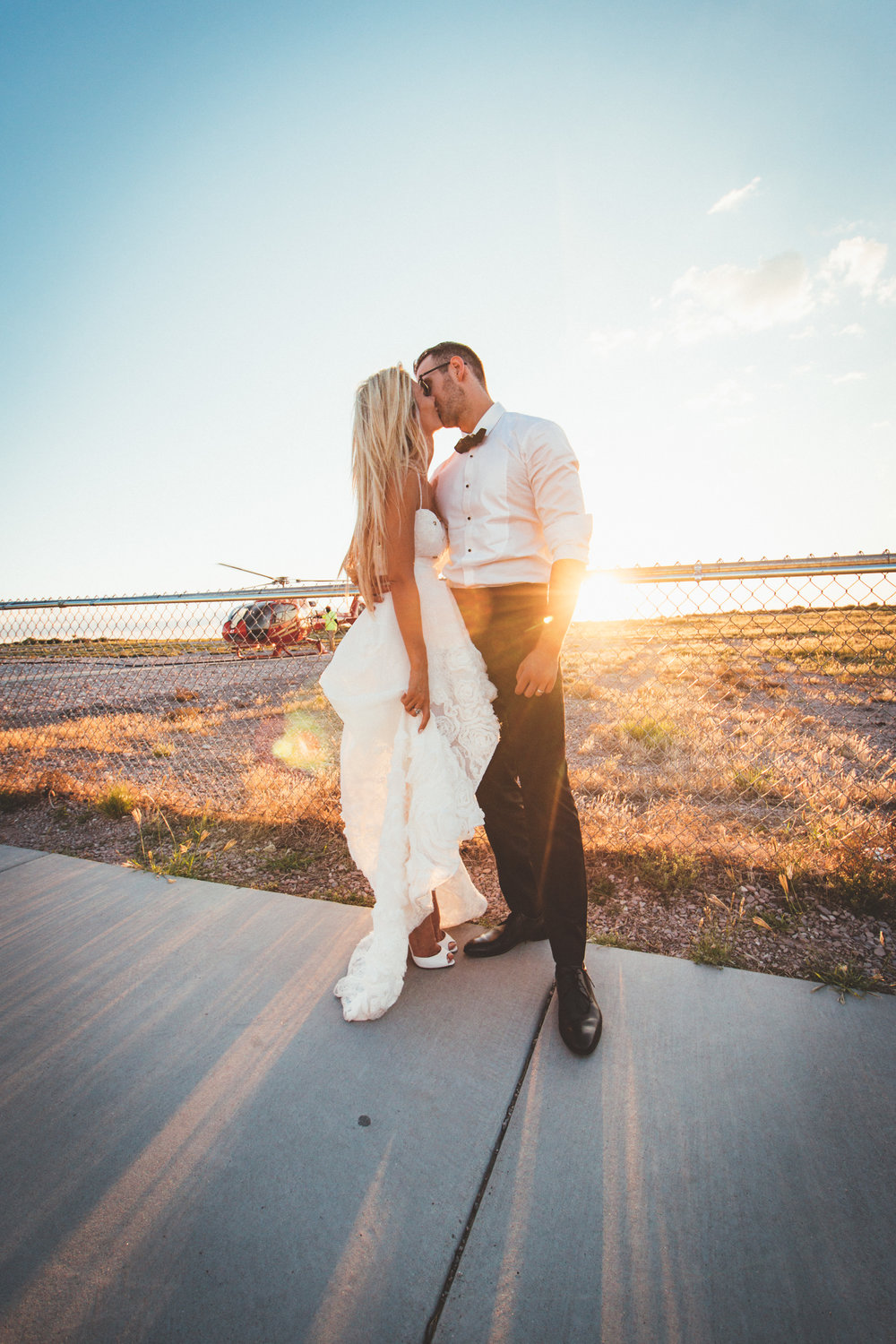 Sunlight Embraces the married couple