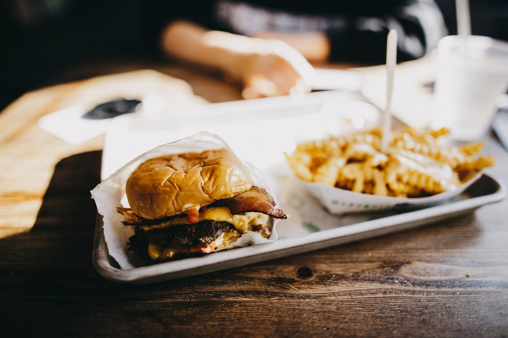 why you shouldn't use cheat meals - burger and chips