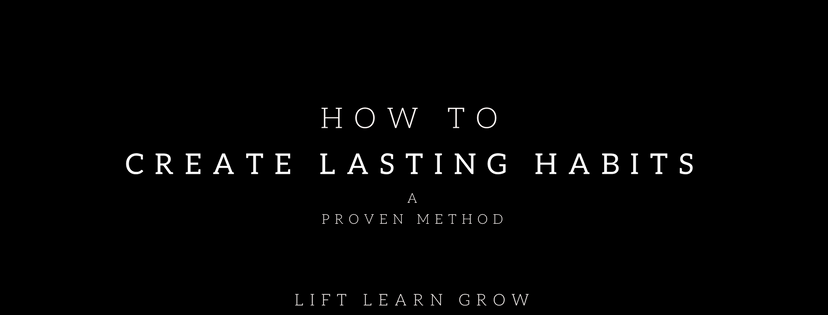 how to create lasting habits blog post