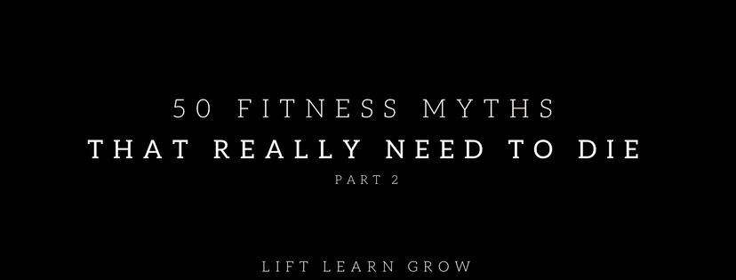 50 fitness myths part 2 blog post