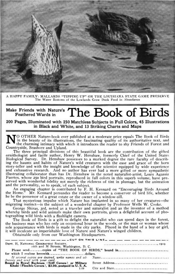 Frederick H. Kennard Mentioned in January 1919 edition of  The National Geographic Magazine .