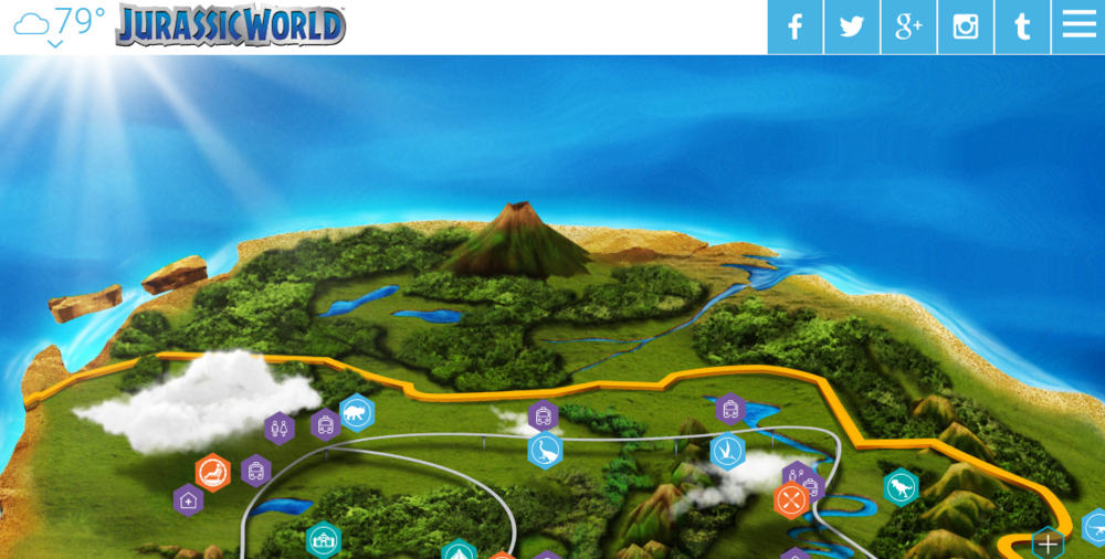 Via the Isla Nublar map on jurassicworld.com