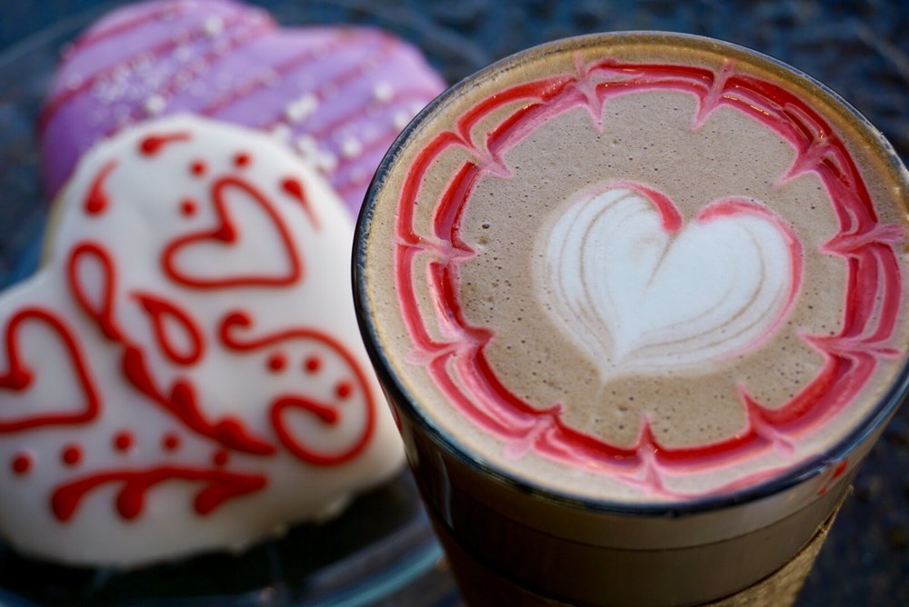 Red Velvet Mocha - This month's drink special is a heartwarming treat for the sweetest month of the year. With a red velvet chocolate foundation, and red velvet drizzle, this drink will satisfy any sweet tooth.