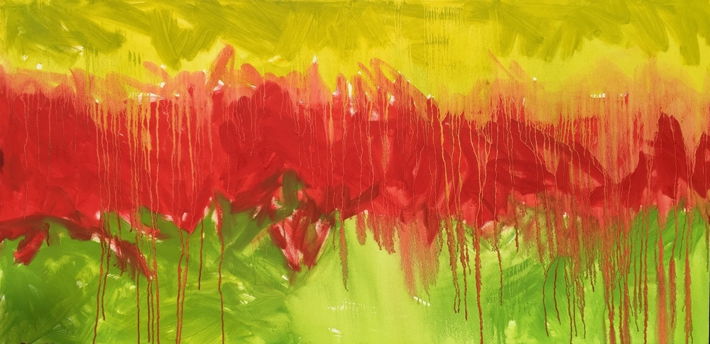 Powerful Green & Red Abstract