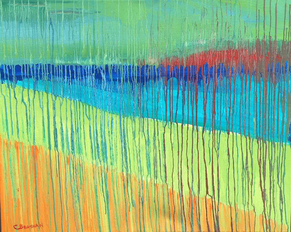 Abstract Color Study 24 x 30 inches painted 2010