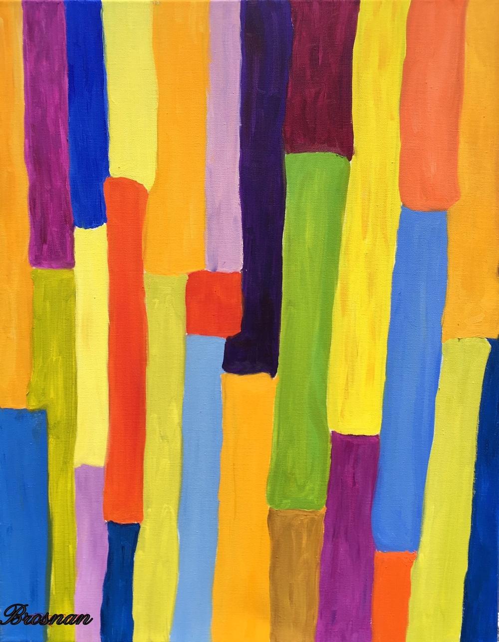 Color Study Bones 24x30 inches