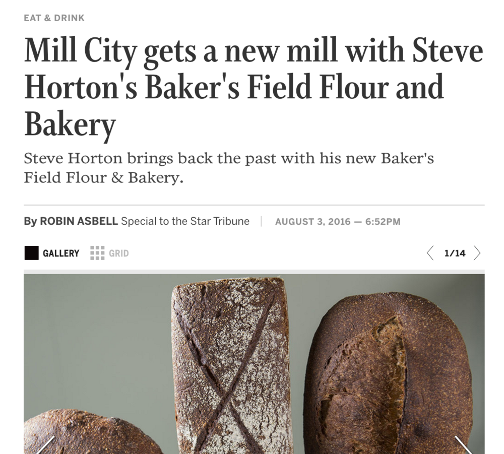 Mill City gets a new mill with Steve Horton's Baker's Field Flour and Bakery