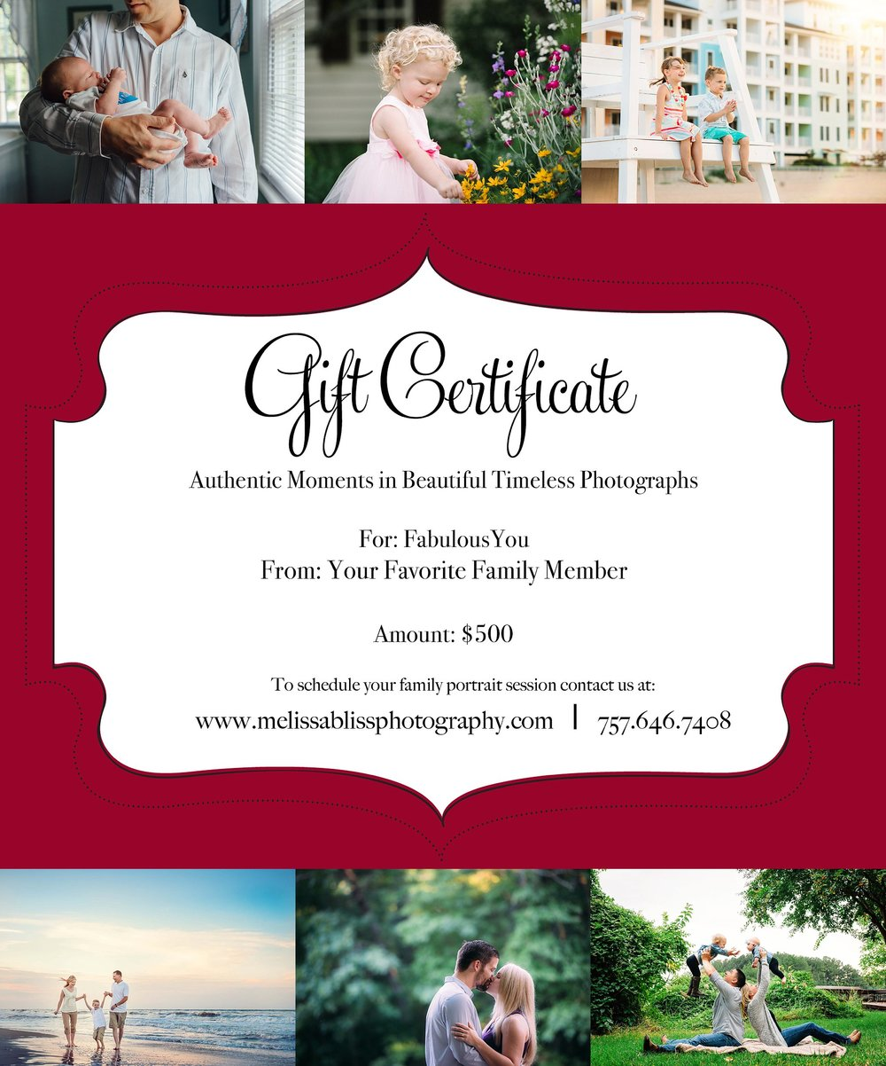 hampton roads photographer photo session gift certificates hampton roads photographer photo session gift certificates