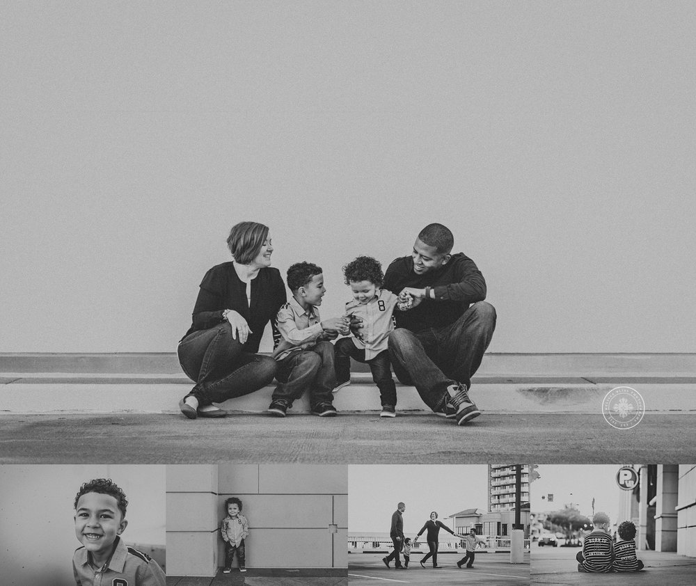 black-and-white-family-session-photos-virginia-beach-boardwalk-melissa-bliss-photography
