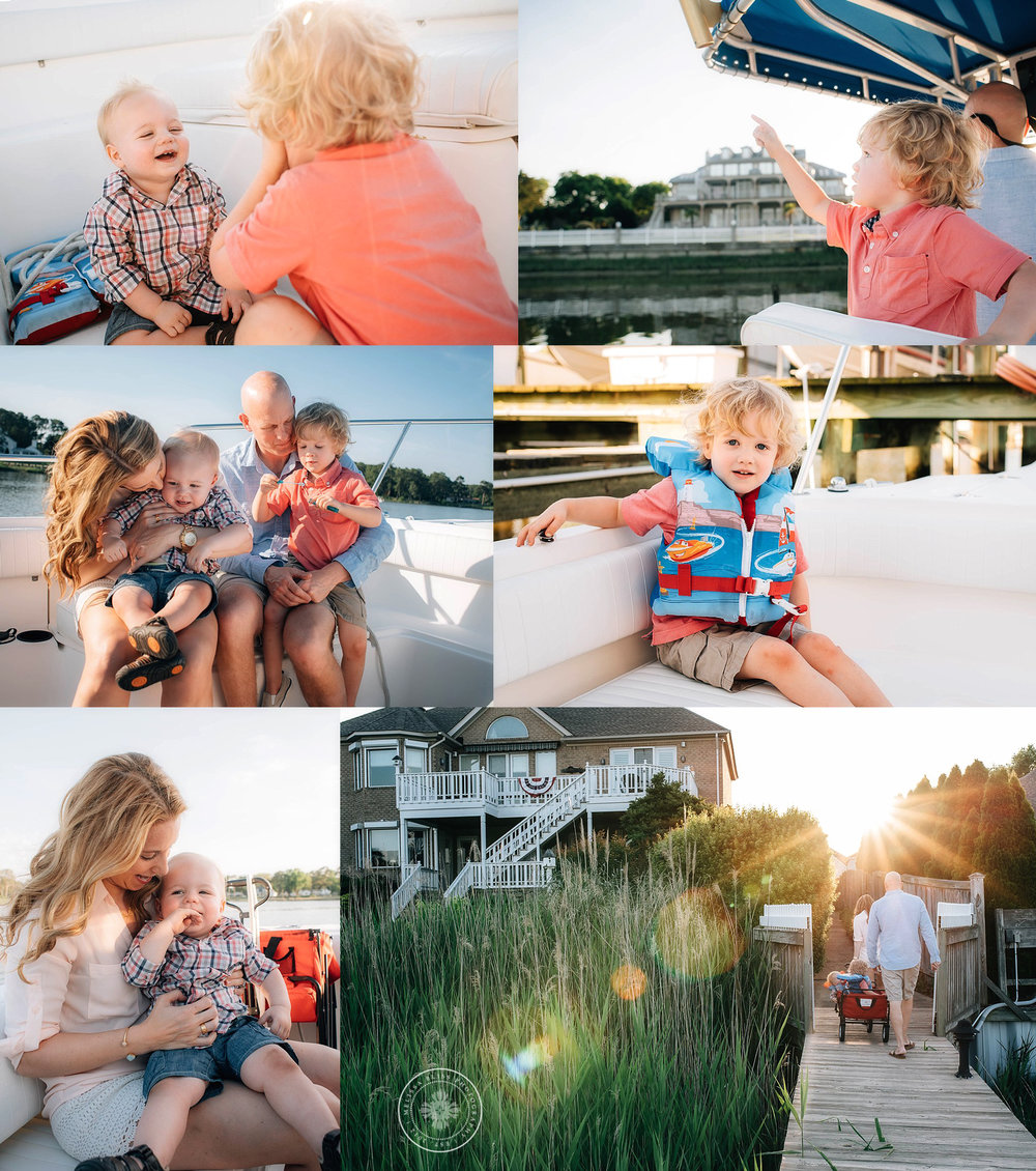 family-on-boat-sunset-documentary-photography-melissa-bliss-photography-norfolk-portsmouth-va